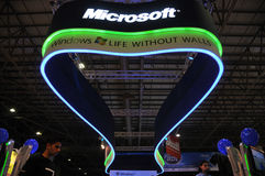GITEX 2009 - Beauty of Microsoft Pavilion Royalty Free Stock Photos