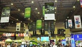 GITEX 2009 - Brandings auf Danglers u. Fahnen Stockbild