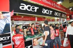 GITEX 2009 - Centre de ventes d'Acer Image stock