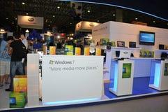 GITEX 2009 - Microsoft Windows 7 gerade gestartet Lizenzfreies Stockfoto