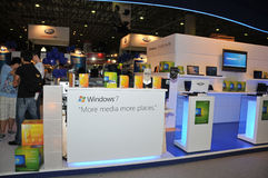 GITEX 2009 - Microsoft Windows 7 just launched Royalty Free Stock Photo
