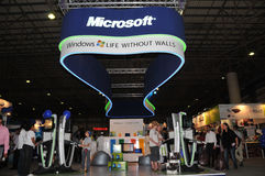 GITEX 2009 - Pavillion Microsoft- Windows7 Stockfoto