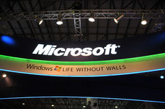 GITEX 2009 - Pavillion Microsoft- Windows7 Stockfotografie