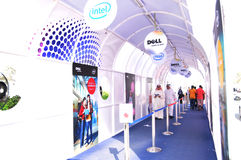 GITEX 2009 - Tunnel d'entrée de Dell Images stock
