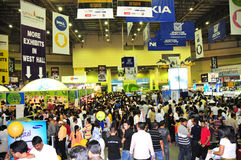 Gitex Shopper 2008 - Final Day Rush Royalty Free Stock Photos