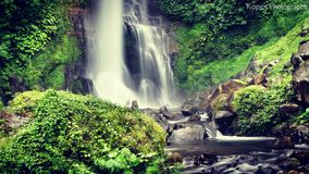 Gitgit waterfalls bali Stock Photo