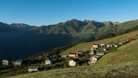 Gito高原全景在黑海,里泽,土耳其 免版税图库摄影