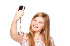 Gitrl con la cámara digital Fotografía de archivo libre de regalías