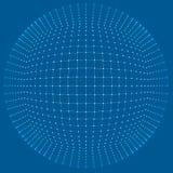 Gitter des Hintergrundes 3d Cybertechnologie Ai-Technologiedraht-Netz futuristisches wireframe Künstliche Intelligenz Abstrakter  Lizenzfreie Stockfotografie