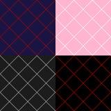 Gitter Diamond Square Background Set Stockfotos