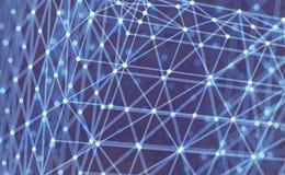 Gitter-Struktur Wissenschafts- oder Technologiehintergrund Grafische Auslegung Oberfläche des Gitter-3D Auch im corel abgehobenen Stockbilder