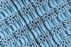 Gitter von blauen neuen 2018-jährigen Zahlen Lizenzfreie Stockfotografie