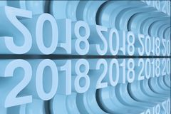 Gitter von blauen neuen 2018-jährigen Zahlen Lizenzfreie Stockbilder