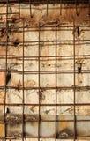 Gitter von Eisenstangen Stockbild