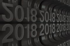 Gitter von schwarzen neuen 2018-jährigen Zahlen Lizenzfreies Stockfoto