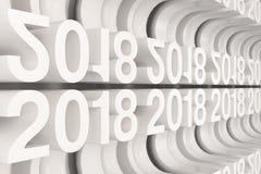 Gitter von weißen neuen 2018-jährigen Zahlen Stockfoto