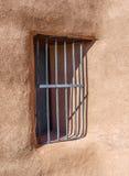 Gitterfenster an der Geist-Ranch stockfotografie