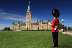 Guard at Parliament Hill, Ottawa Stock Image