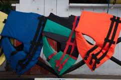 Giubbotti di salvataggio in Zihuatanejo Immagine Stock