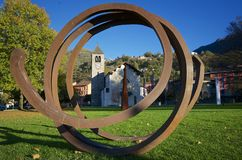 Giubiasco, Тичино, Швейцария - ArteperArte Стоковое Изображение
