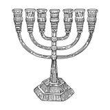 Giudaismo di Menorah Fotografia Stock