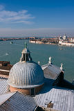 Giudecca canal and Santa Maria church in Venice Stock Image