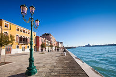 Giudecca Canal in Venice Royalty Free Stock Photography