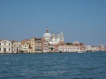 Giudecca canal in Venice Royalty Free Stock Images
