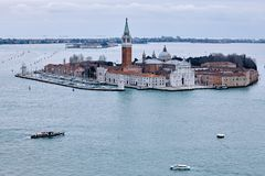 Giudecca in de Winter Venetië Italië Royalty-vrije Stock Foto