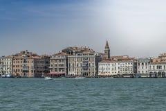 Giudecca kanalritt, Venedig, Italien arkivbild