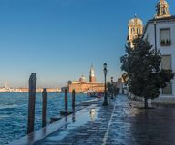 Giudecca, Venice,Italy. Scenic view of St George Church as seen at from Giudecca Island Venice, Italy stock photo