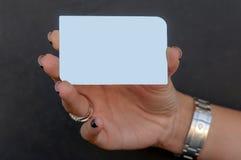 Giudicando un argento VIP card_empty Fotografia Stock Libera da Diritti