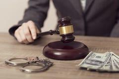 Giudice corrotto fotografia stock libera da diritti