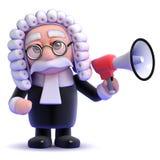 giudice 3d e megafono Fotografie Stock Libere da Diritti