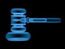 Giudice del martelletto del raggio x isolato sul nero Fotografia Stock