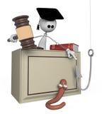giudice della persona bianca 3d. Fotografie Stock