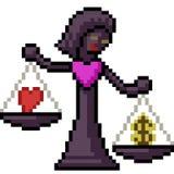 Giudice della scala di amore di arte del pixel di vettore illustrazione di stock