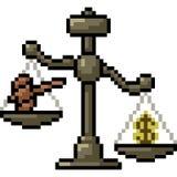 Giudice della scala di arte del pixel di vettore royalty illustrazione gratis