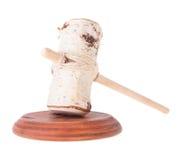 Giudice farsesco Mallet e tavola armonica Fotografia Stock
