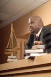 Giudice giusto ed attento Immagini Stock Libere da Diritti