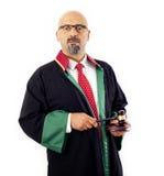 Giudice Holding Gavel Fotografia Stock Libera da Diritti