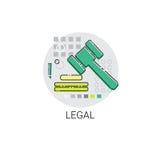 Giudice legale Mallet Legacy Icon Fotografia Stock