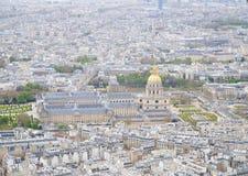 Giudizio di Parigi dalla torre Eiffel Fotografia Stock
