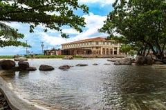 Giugno 30,2018: Bello paesaggio alle filippine delle case di Las, Bataan, Filippine Immagini Stock Libere da Diritti