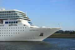 13 giugno 2014 IJmuiden: Costa Neo Romantica sul Mare del Nord Cana Fotografia Stock Libera da Diritti