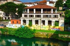 11 giugno 2016 L'Italia - città medievale idilliaca Bassano del Grappa Fotografia Stock