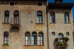 11 giugno 2016 L'Italia - città medievale idilliaca Bassano del Grappa fotografie stock libere da diritti