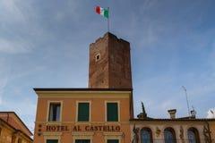 11 giugno 2016 L'Italia - torre medievale di Bassano del Grappa, Vi Fotografie Stock Libere da Diritti