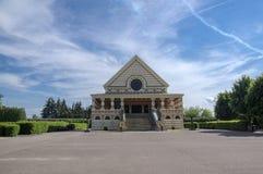 3 giugno 2017 monumento storico del crematorio di Pardubice costruito nello stile di Art Deco Immagine Stock Libera da Diritti