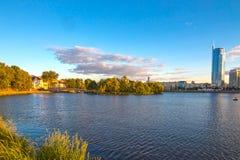 24 giugno 2015: Nemiga, Bielorussia Minsk Fotografia Stock